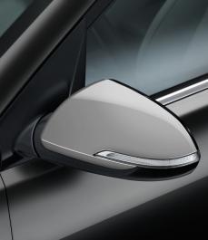 Накладки на бічні дзеркала заднього огляду (срібло)